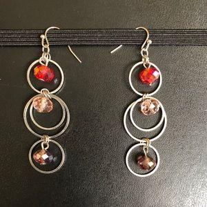 Multi-colored dangle earrings